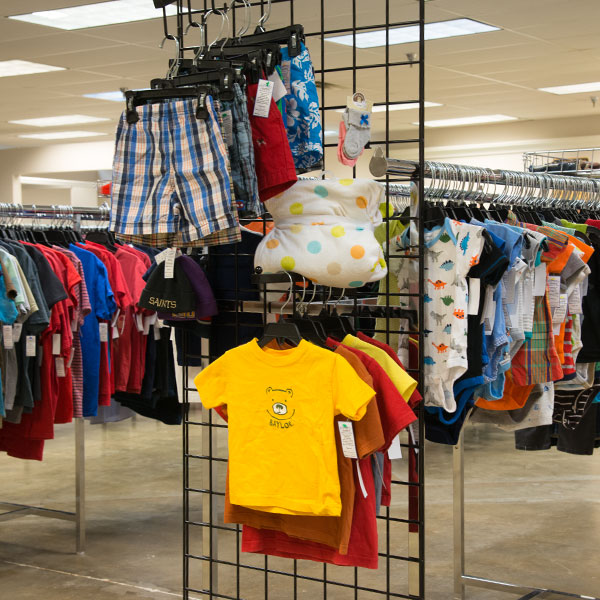 Children's Clothing at Hangers of Hope Thrift Store