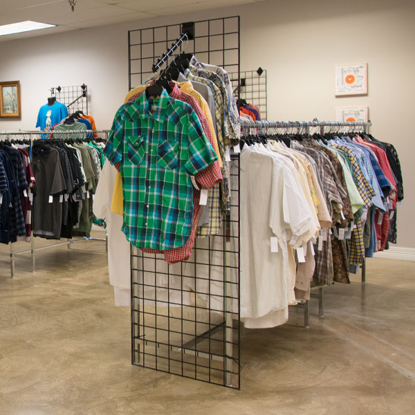 Men's Clothing at Hangers of Hope Thrift Store