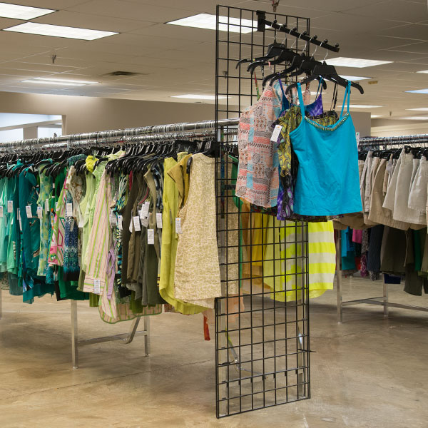 Women's Clothing at Hangers of Hope Thrift Store